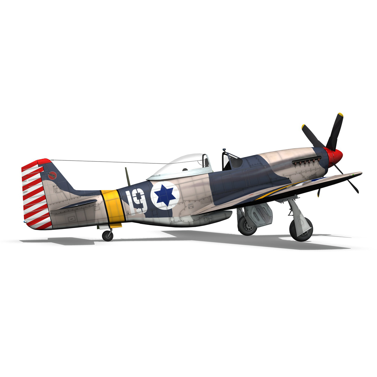 North American P-51D Mustang - IDF 3d model fbx c4d lwo lws lw obj 273319