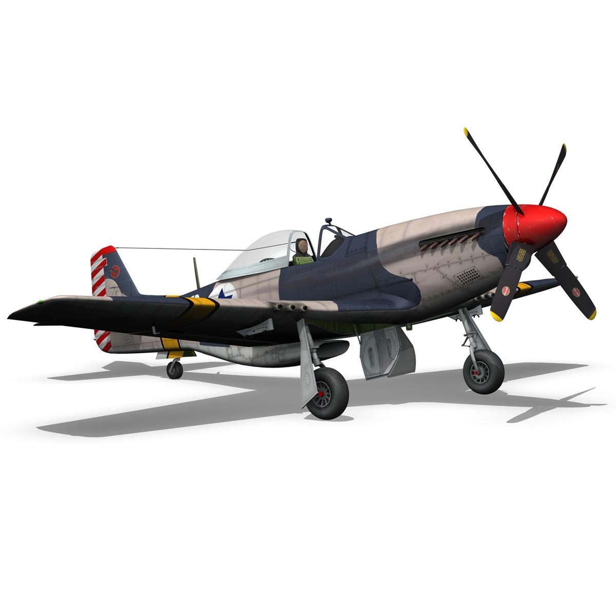 North American P-51D Mustang - IDF 3d model fbx c4d lwo lws lw obj 273320