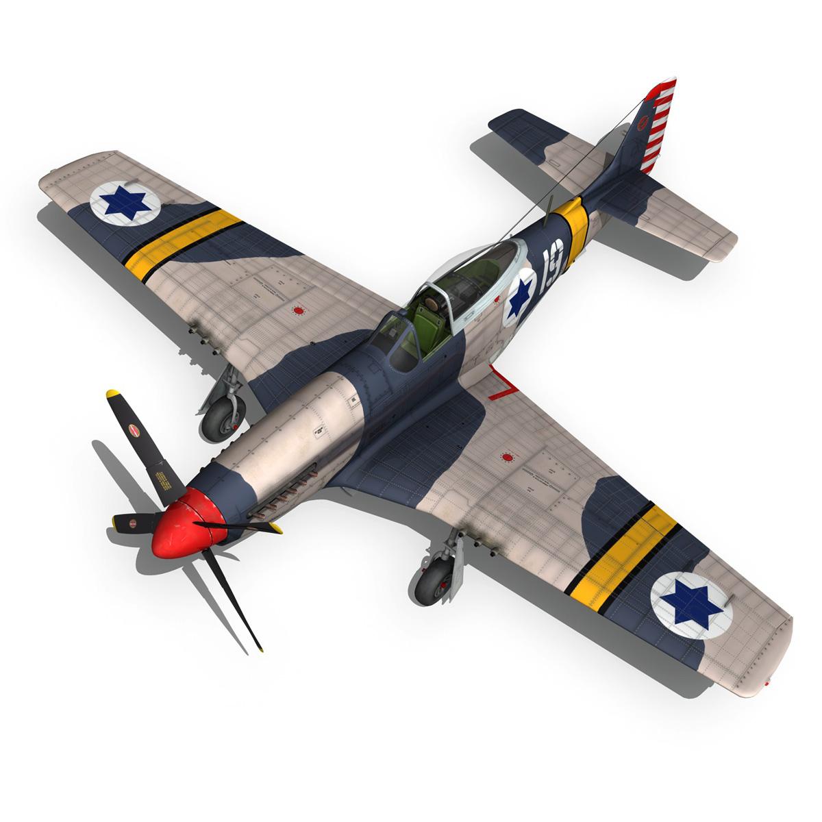 North American P-51D Mustang - IDF 3d model fbx c4d lwo lws lw obj 273321