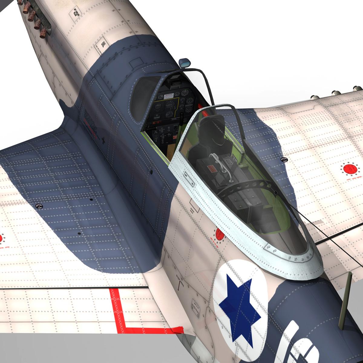 North American P-51D Mustang - IDF 3d model fbx c4d lwo lws lw obj 273322