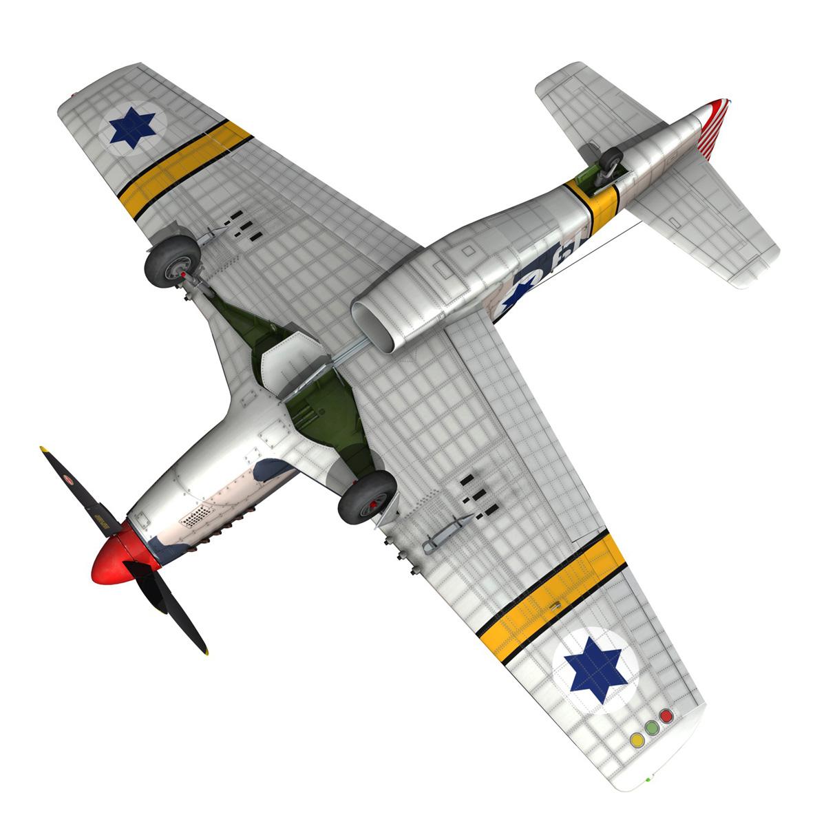 North American P-51D Mustang - IDF 3d model fbx c4d lwo lws lw obj 273323