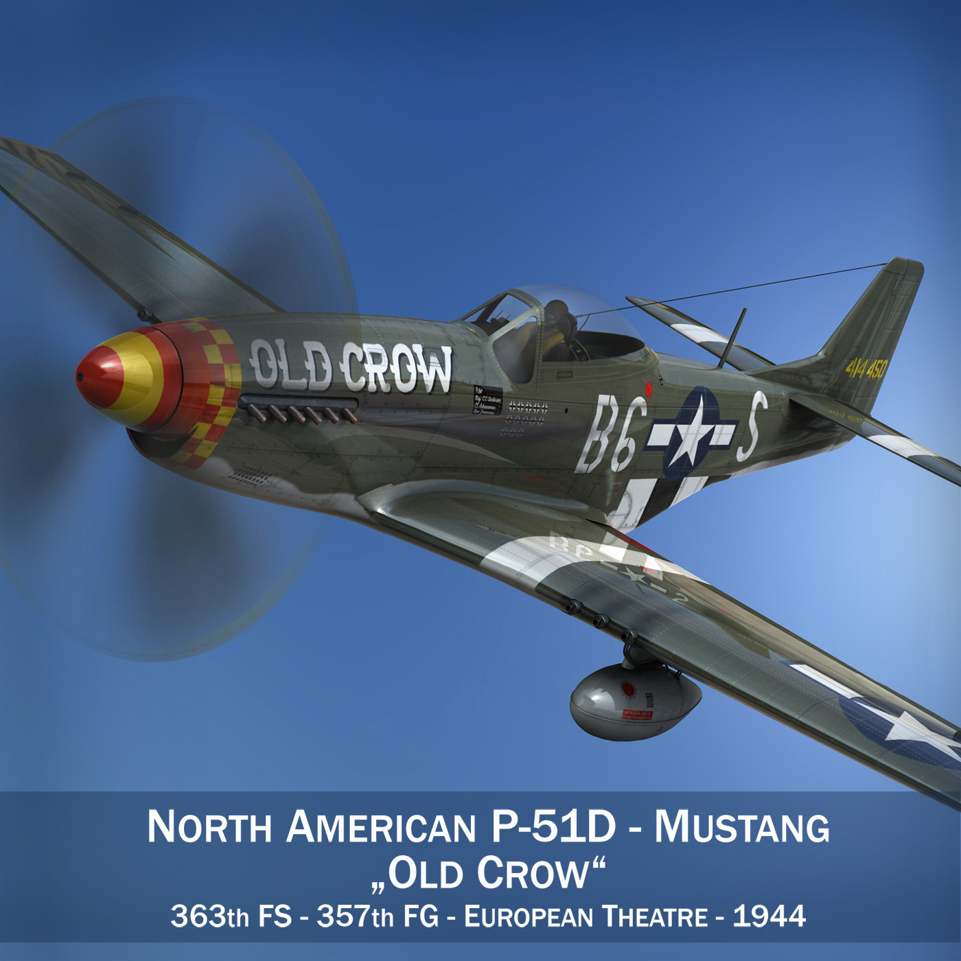 north american p-51d mustang – old crow 3d model fbx c4d lwo obj 273332