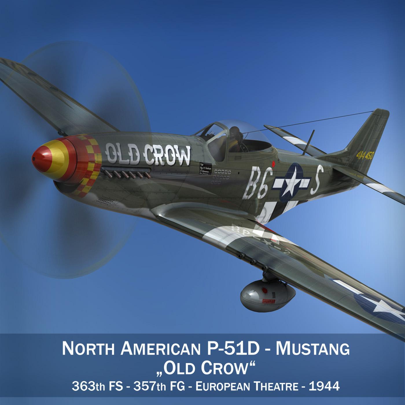 North American P-51D Mustang - Old Crow 3d model fbx c4d lwo lws lw obj 273332