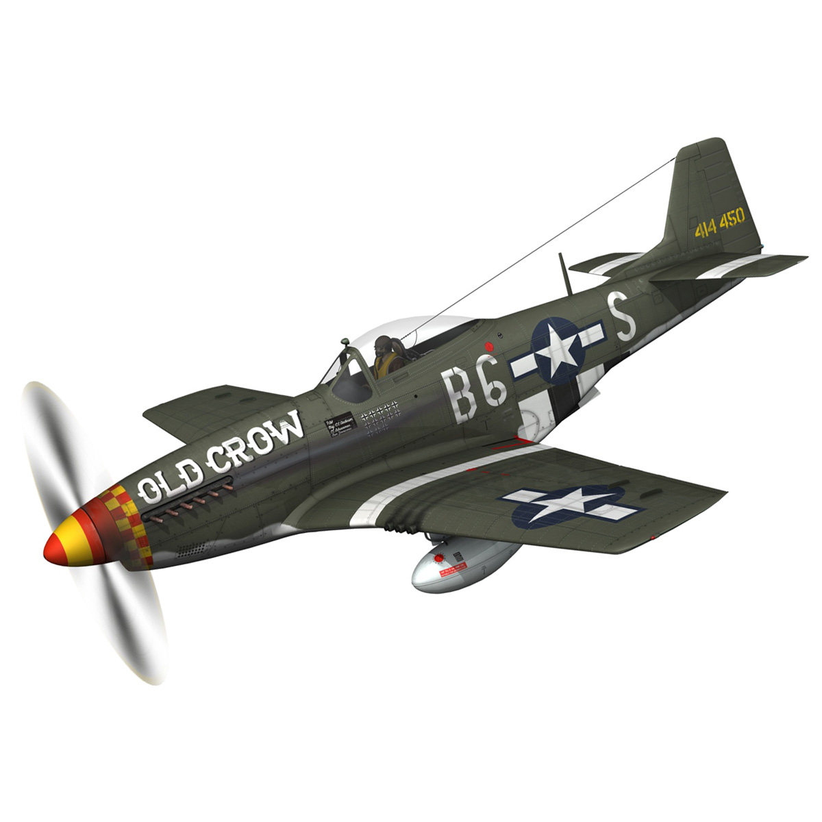 north american p-51d mustang – old crow 3d model fbx c4d lwo obj 273333