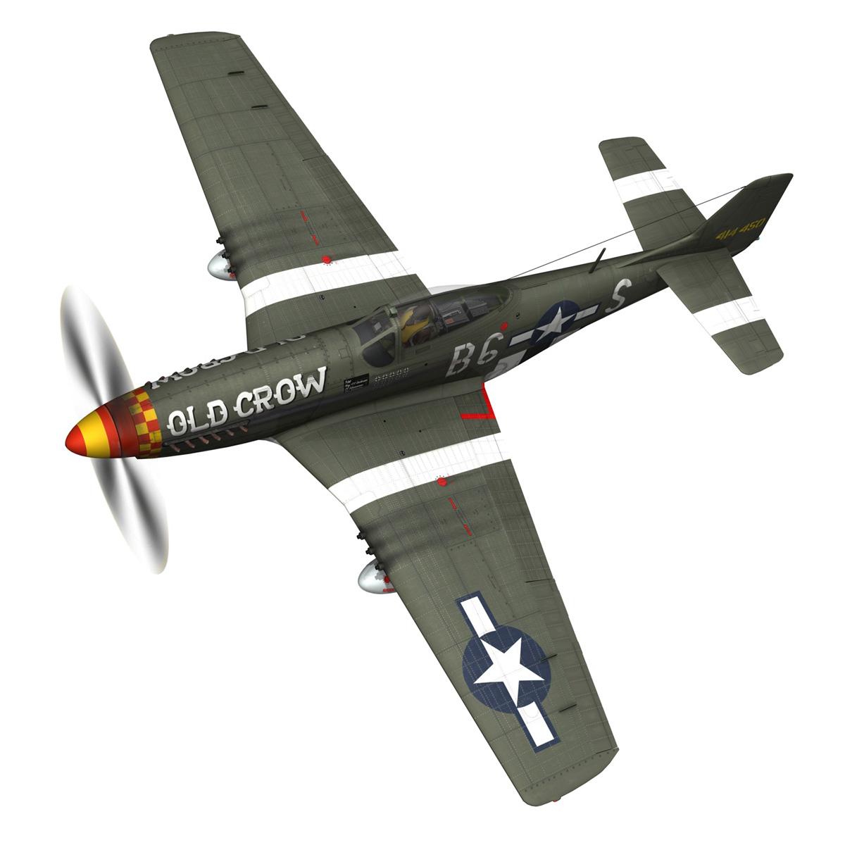 north american p-51d mustang – old crow 3d model fbx c4d lwo obj 273334