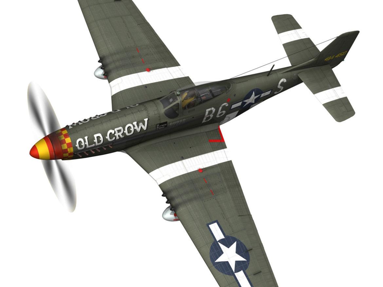 North American P-51D Mustang - Old Crow 3d model  fbx c4d lwo lws lw obj