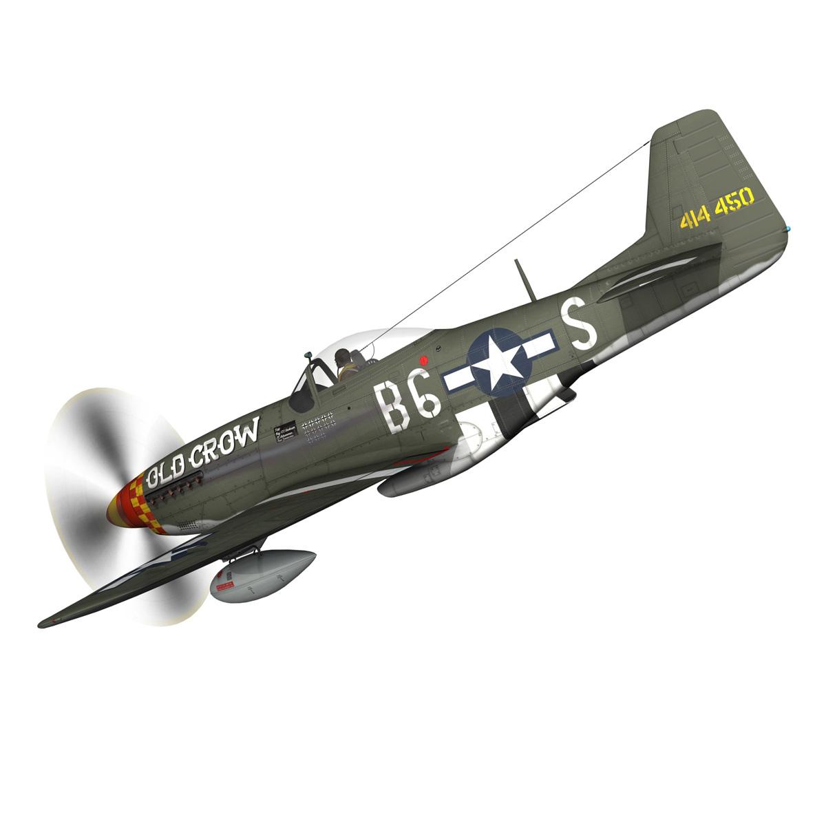 north american p-51d mustang – old crow 3d model fbx c4d lwo obj 273335