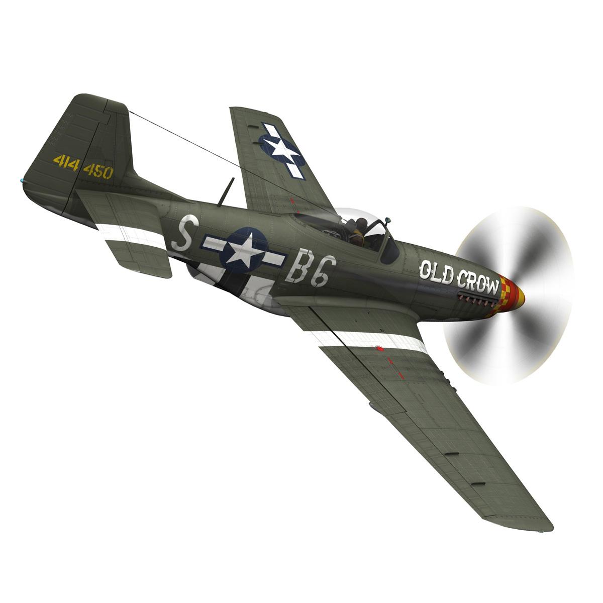 north american p-51d mustang – old crow 3d model fbx c4d lwo obj 273337