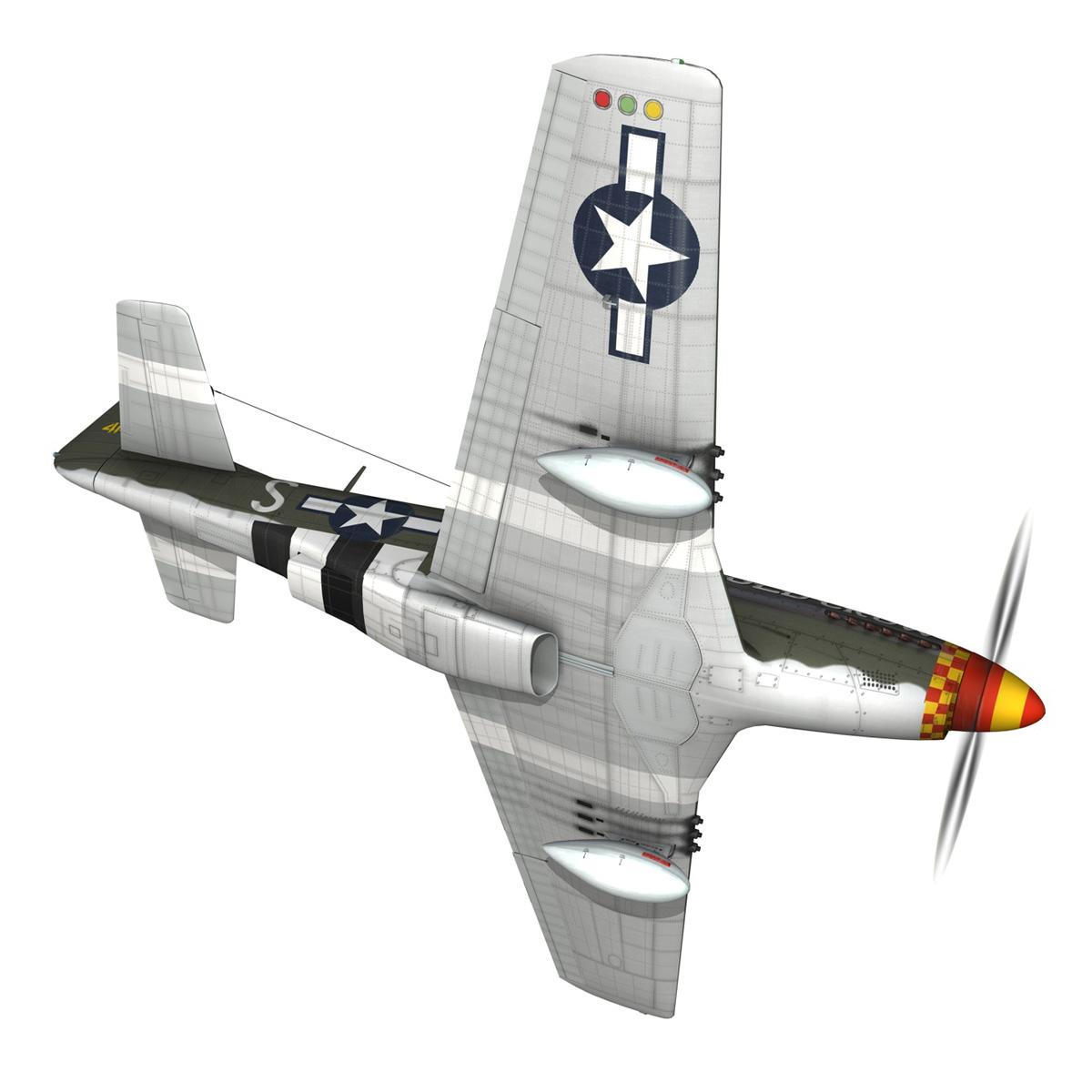 north american p-51d mustang – old crow 3d model fbx c4d lwo obj 273340