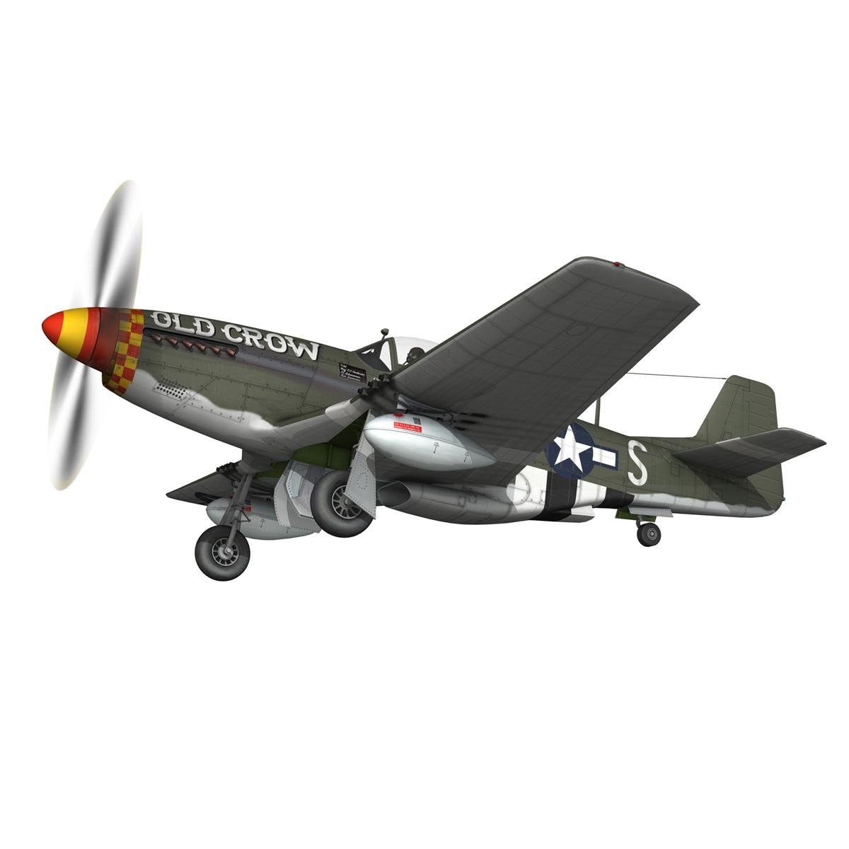 north american p-51d mustang – old crow 3d model fbx c4d lwo obj 273341