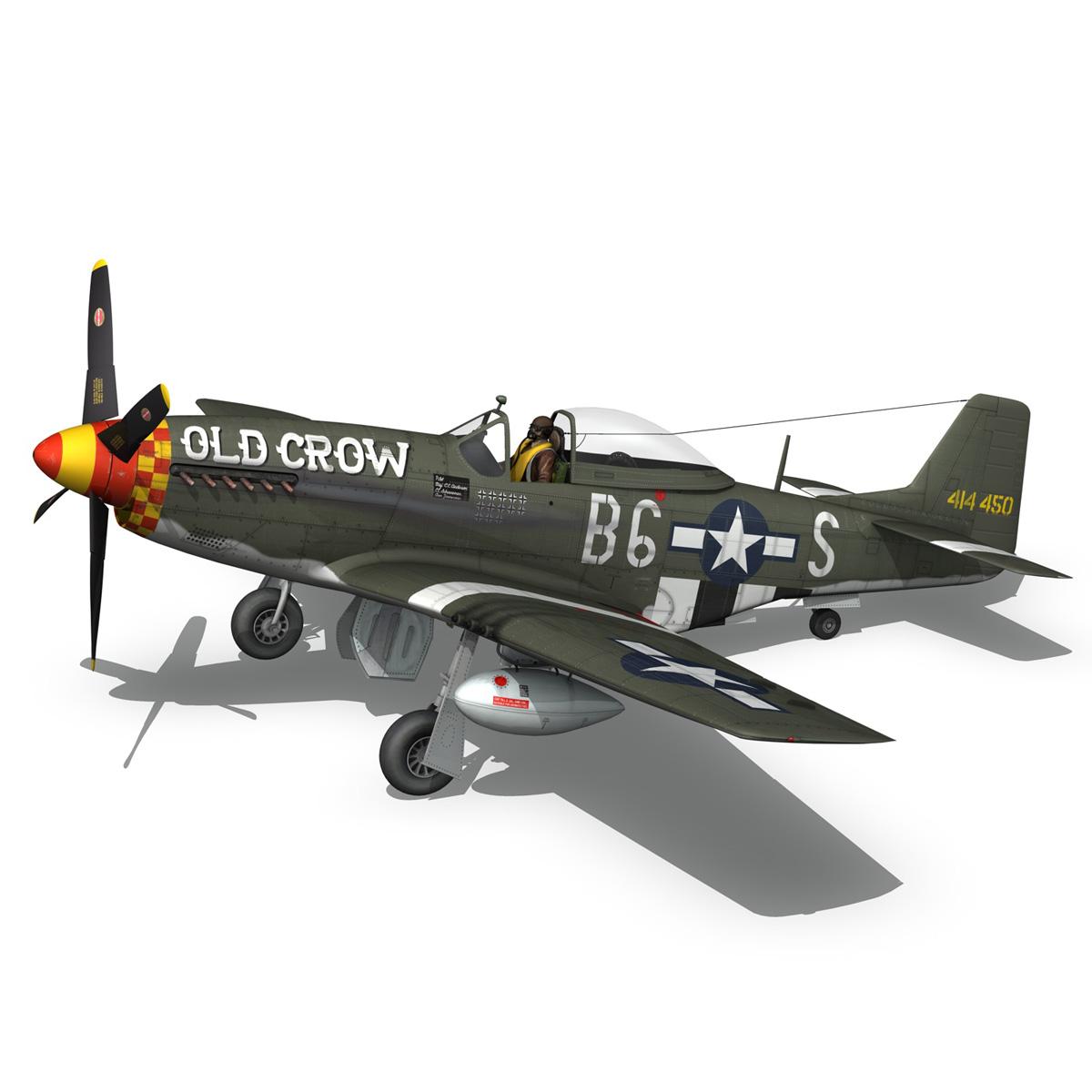 north american p-51d mustang – old crow 3d model fbx c4d lwo obj 273342