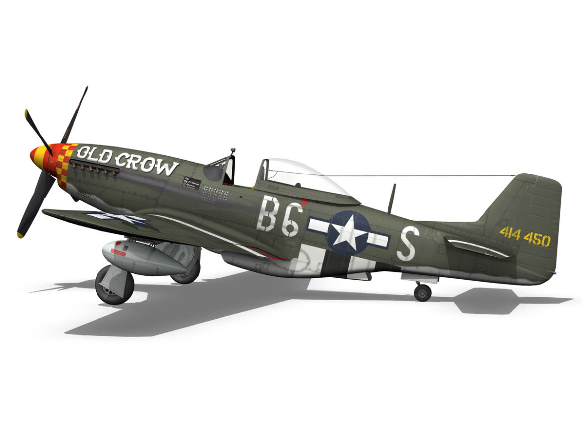 North American P-51D Mustang - Old Crow 3d model 0