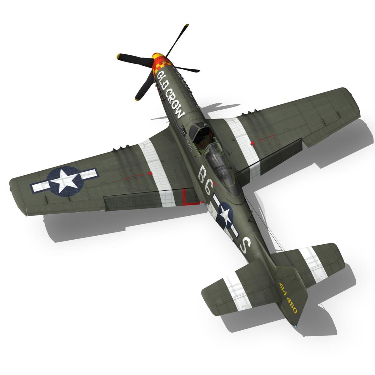 north american p-51d mustang – old crow 3d model fbx c4d lwo obj 273344