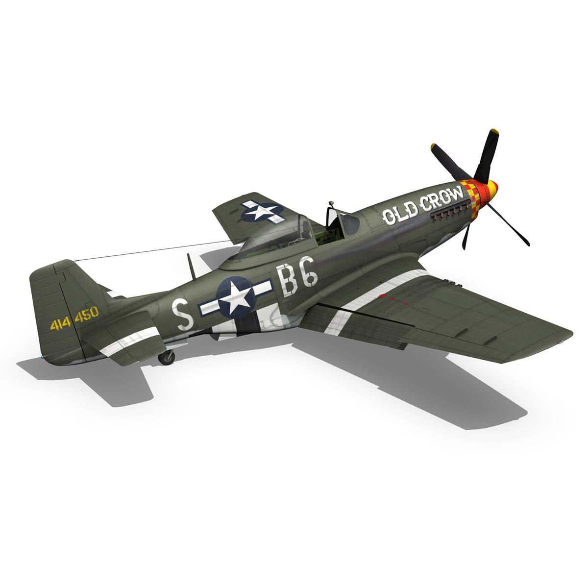 north american p-51d mustang – old crow 3d model fbx c4d lwo obj 273345