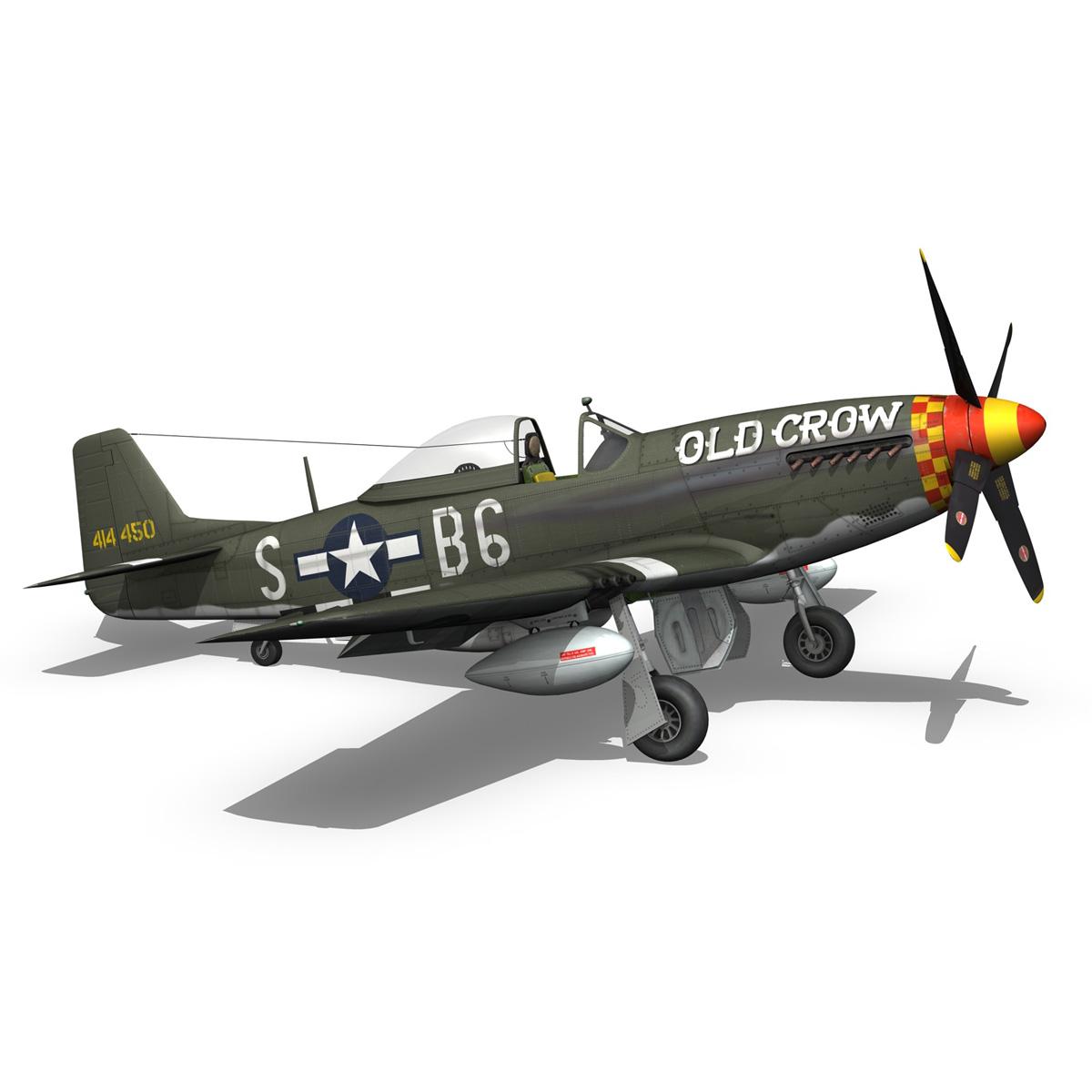 north american p-51d mustang – old crow 3d model fbx c4d lwo obj 273346