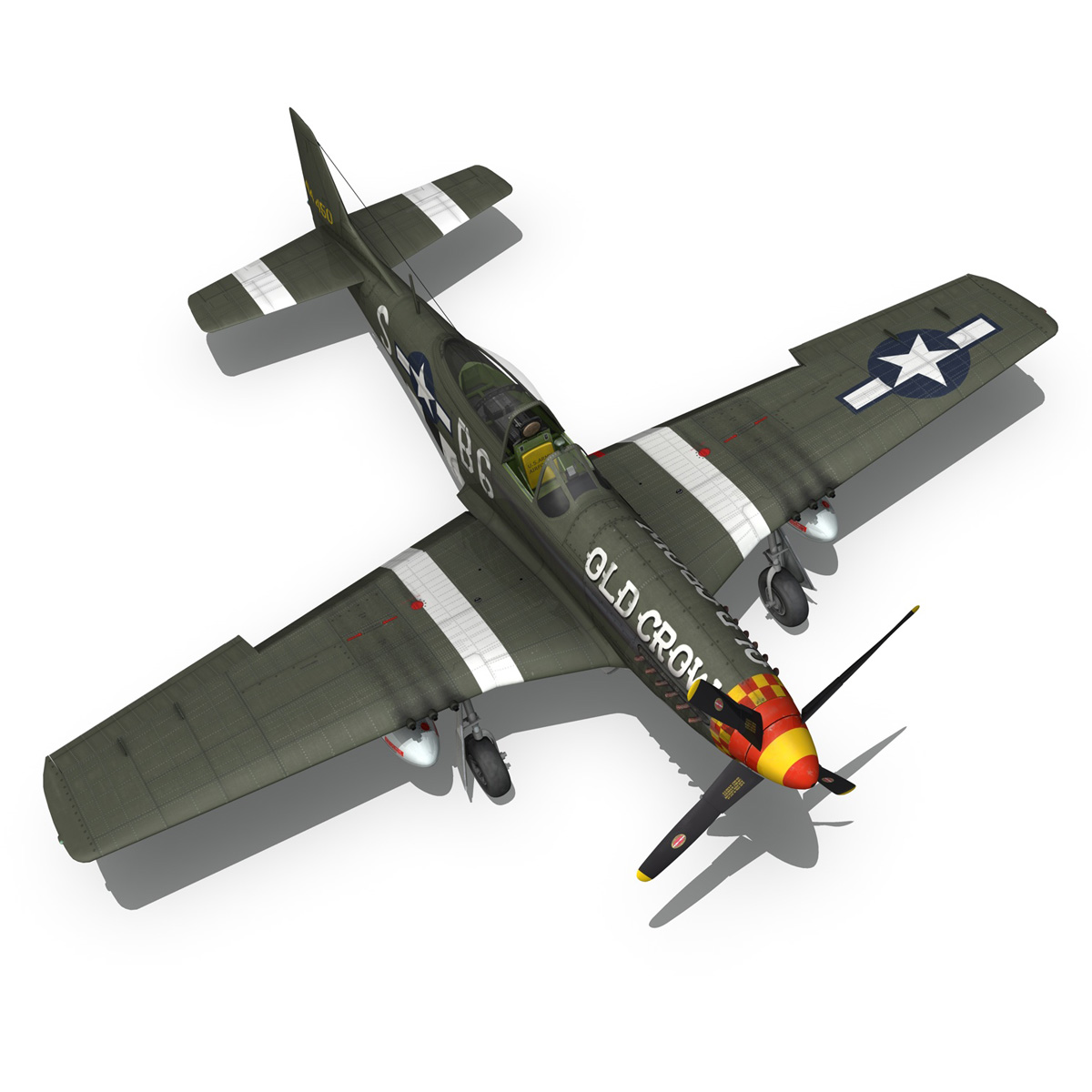 north american p-51d mustang – old crow 3d model fbx c4d lwo obj 273347