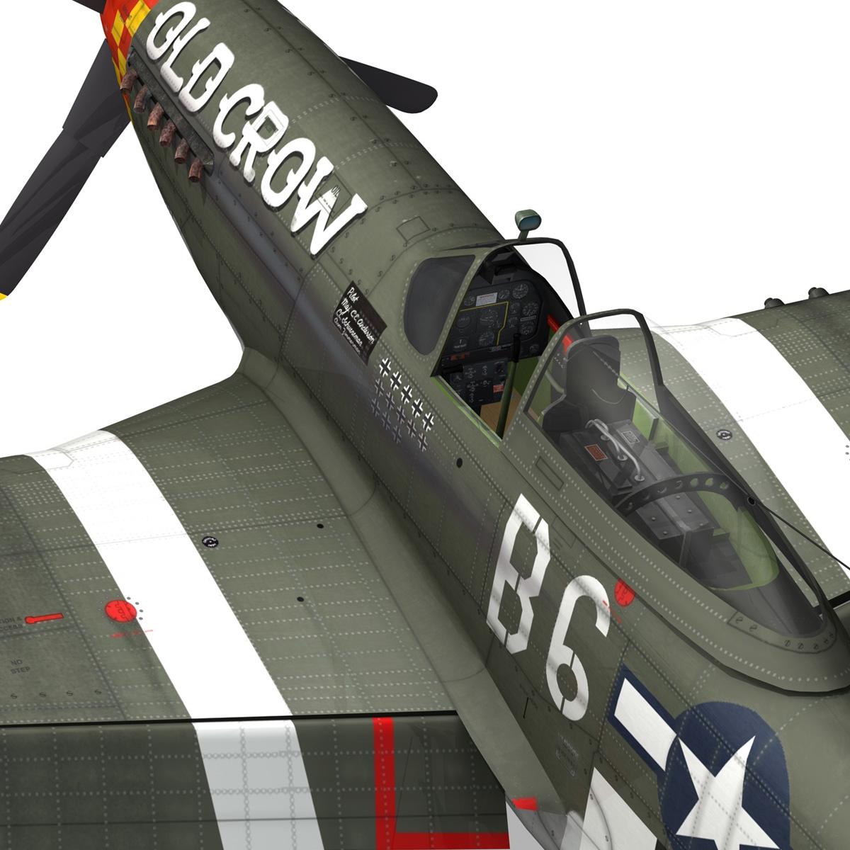 north american p-51d mustang – old crow 3d model fbx c4d lwo obj 273348