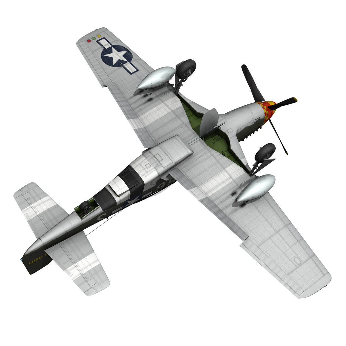 north american p-51d mustang – old crow 3d model fbx c4d lwo obj 273349