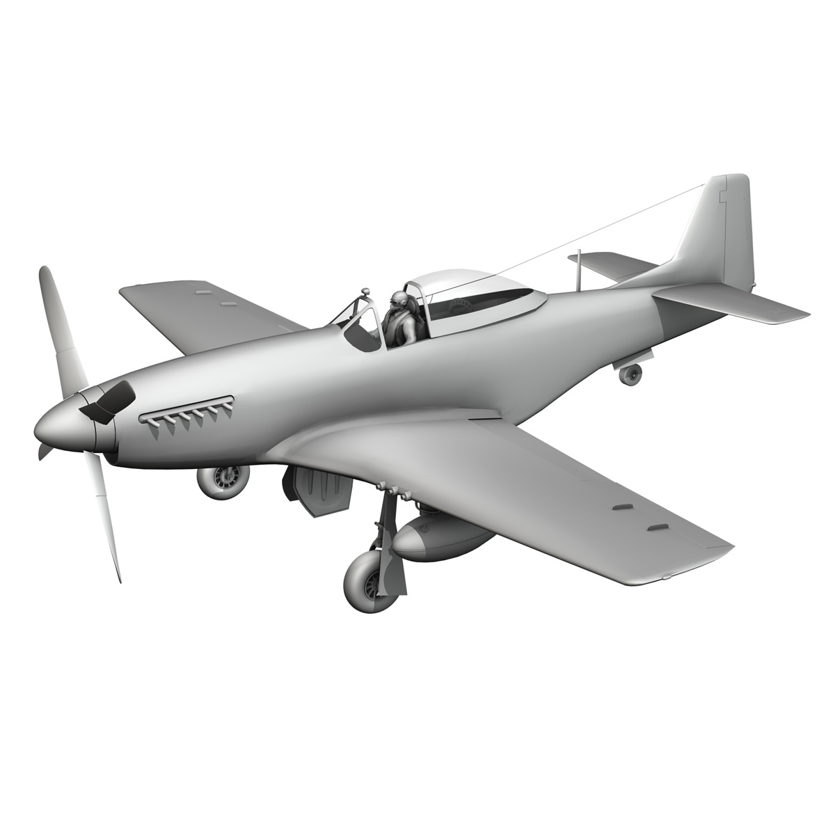 north american p-51d mustang – old crow 3d model fbx c4d lwo obj 273350