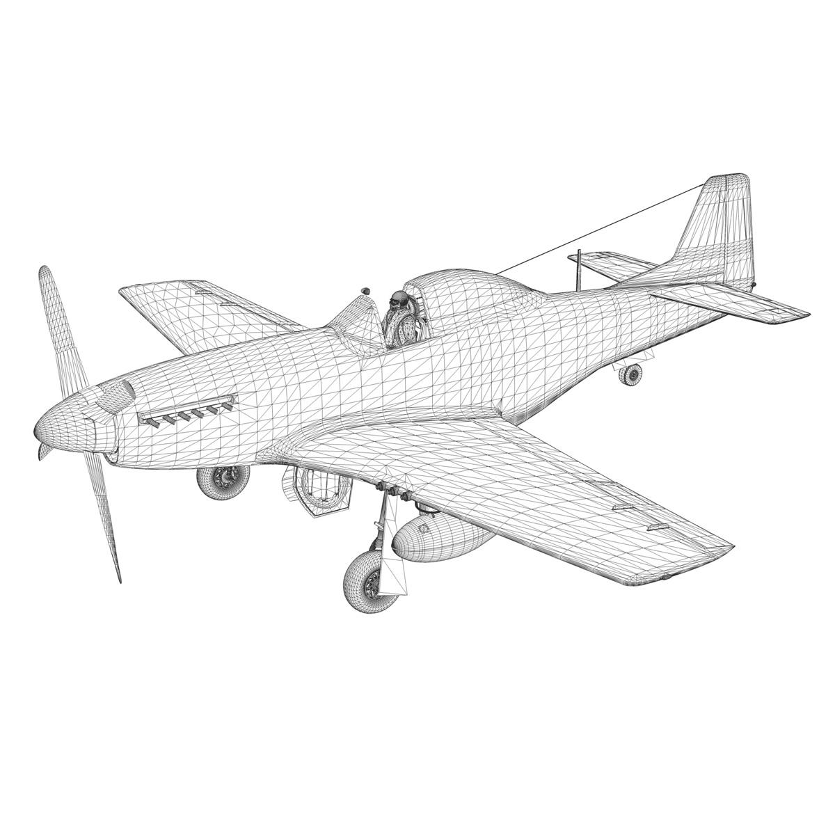 north american p-51d mustang – old crow 3d model fbx c4d lwo obj 273351