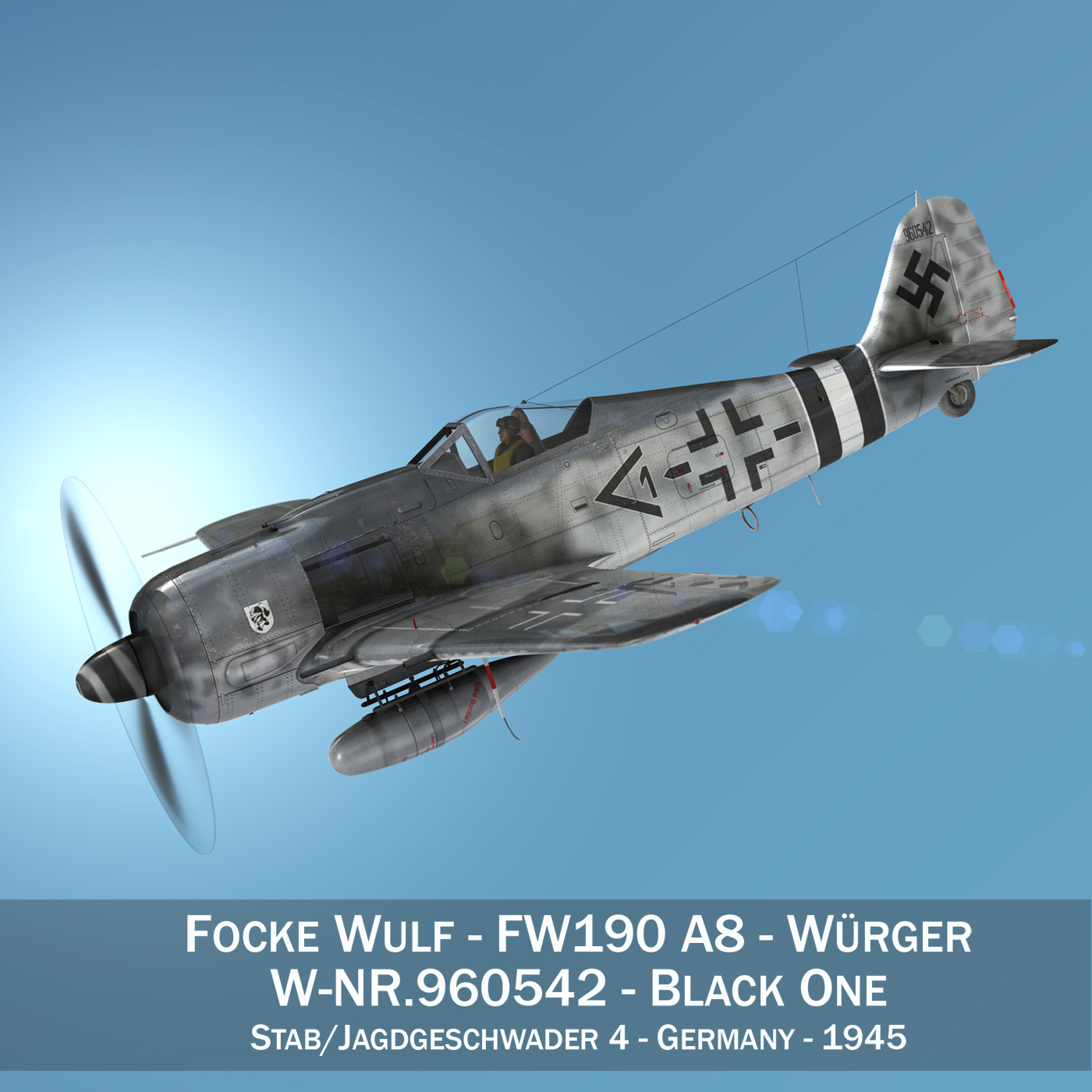 wcas wulf - fw190 a8 3d samhail 3ds fbx c4d lwo obj 273359