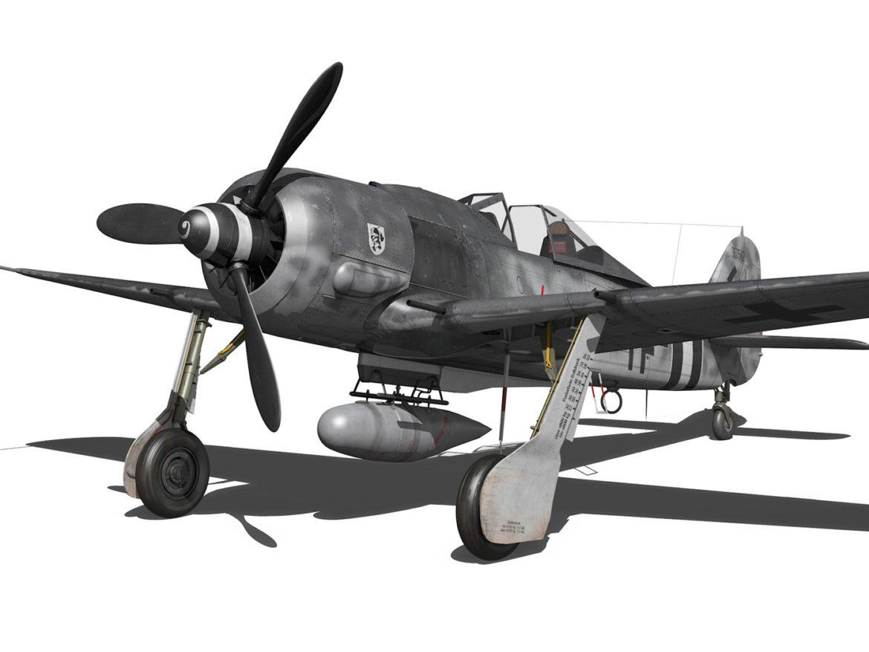 Focke Wulf - FW190 A8 - 960542 3d model high poly virtual reality 3ds fbx c4d lwo lws lw obj
