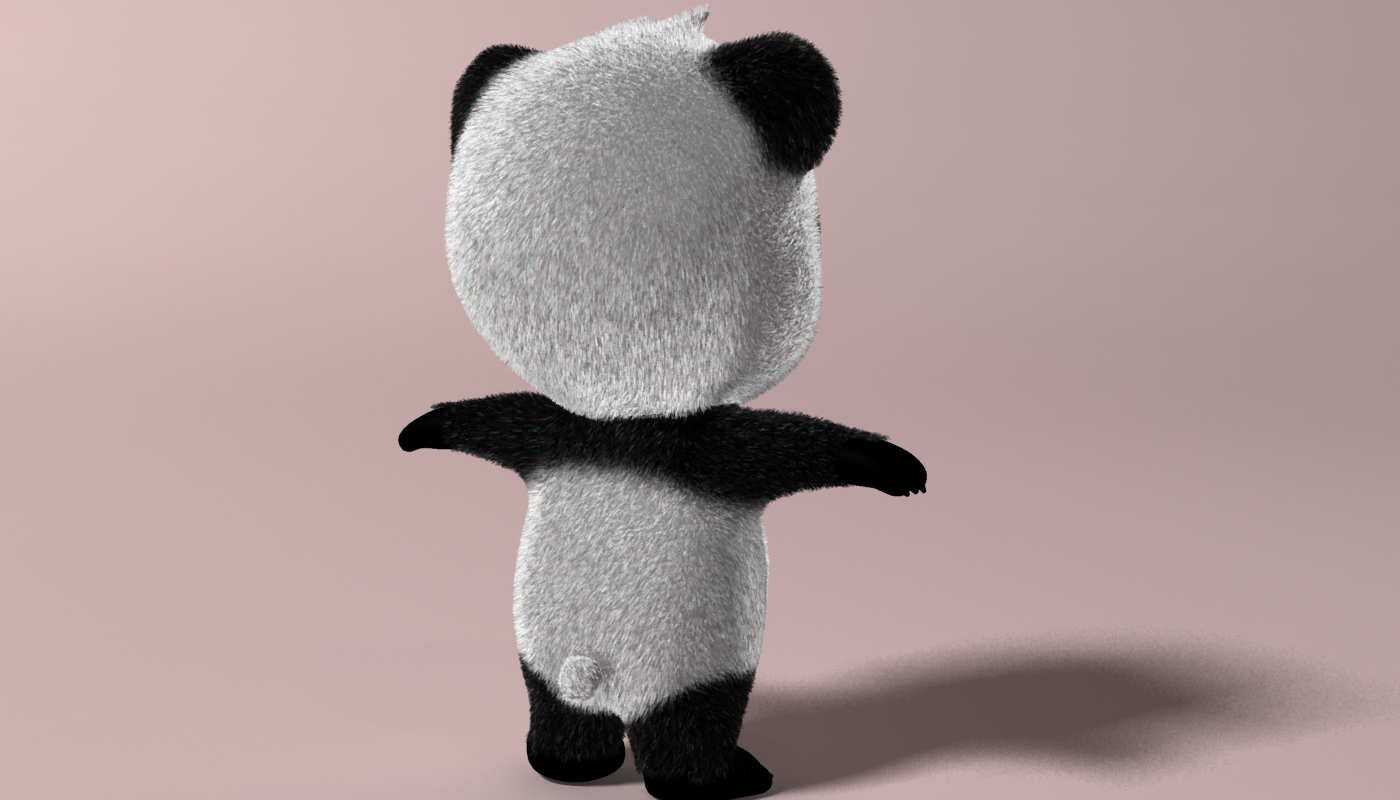 cartoon panda rigged 3d model 3ds max fbx  obj 273397