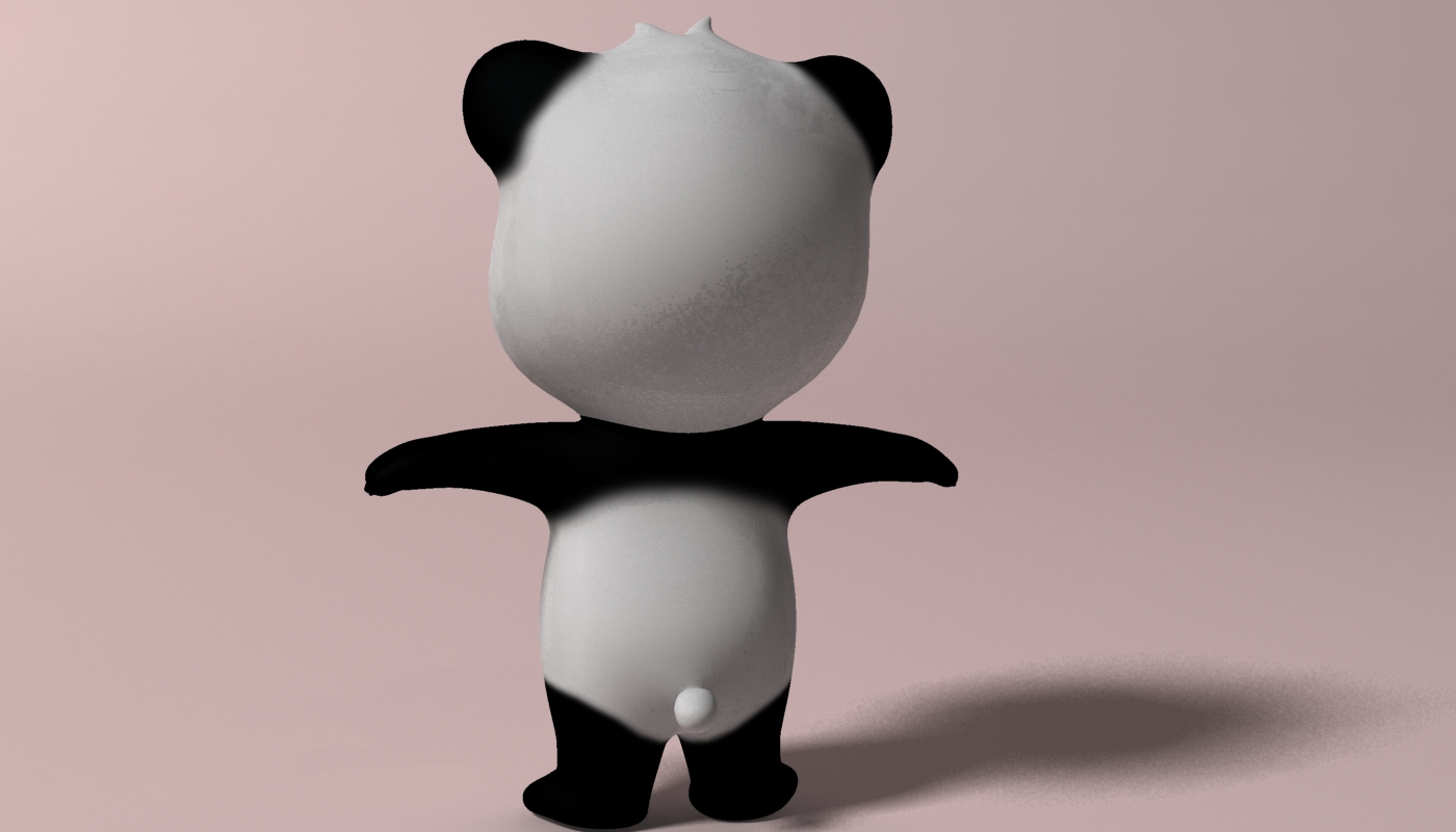 Cartoon panda RIGGED 3d model 3ds max fbx  obj 273399