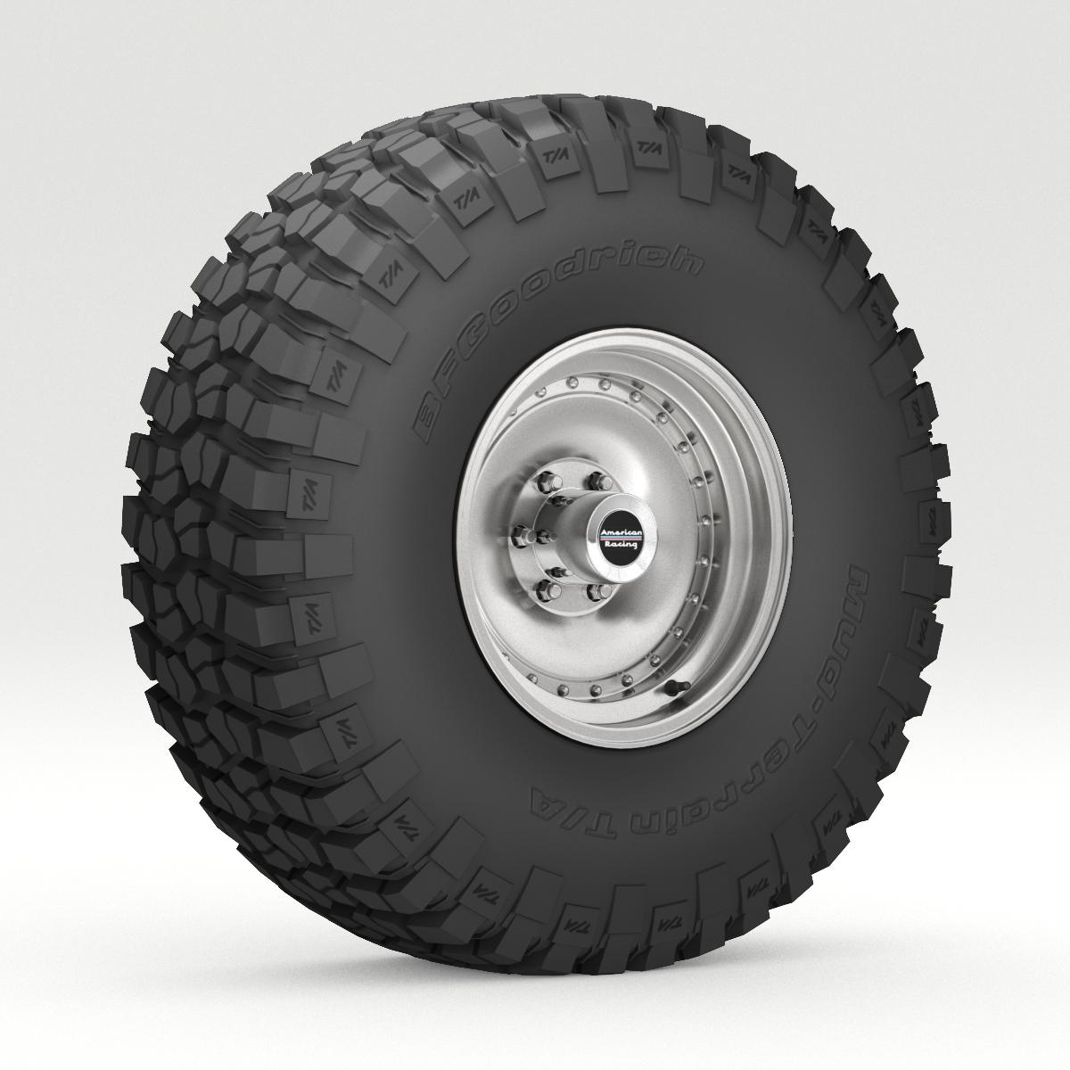 Off Road wheel and tire 6 3d model 3ds max fbx obj 273549