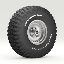 Off Road wheel and tire 6 3d model 3ds max fbx obj