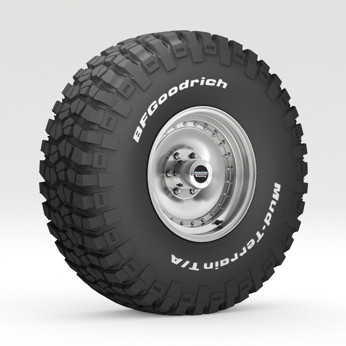 Off Road wheel and tire 6 3d model 3ds max fbx obj 273551
