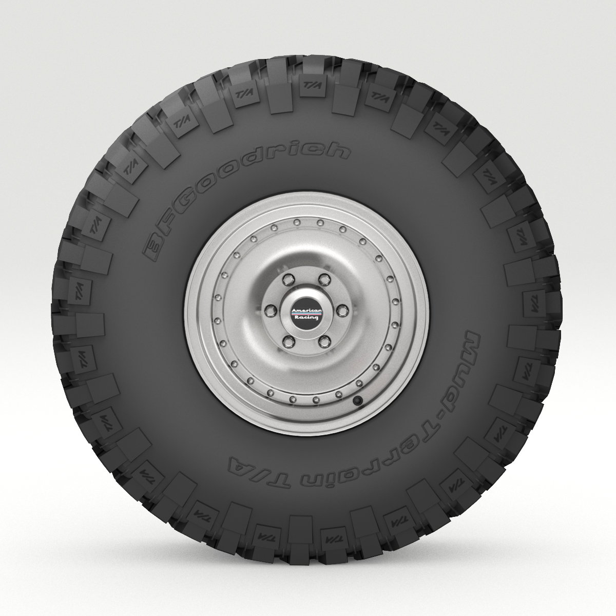 Off Road Wheel And Tire 6 3d Model Buy Off Road Wheel