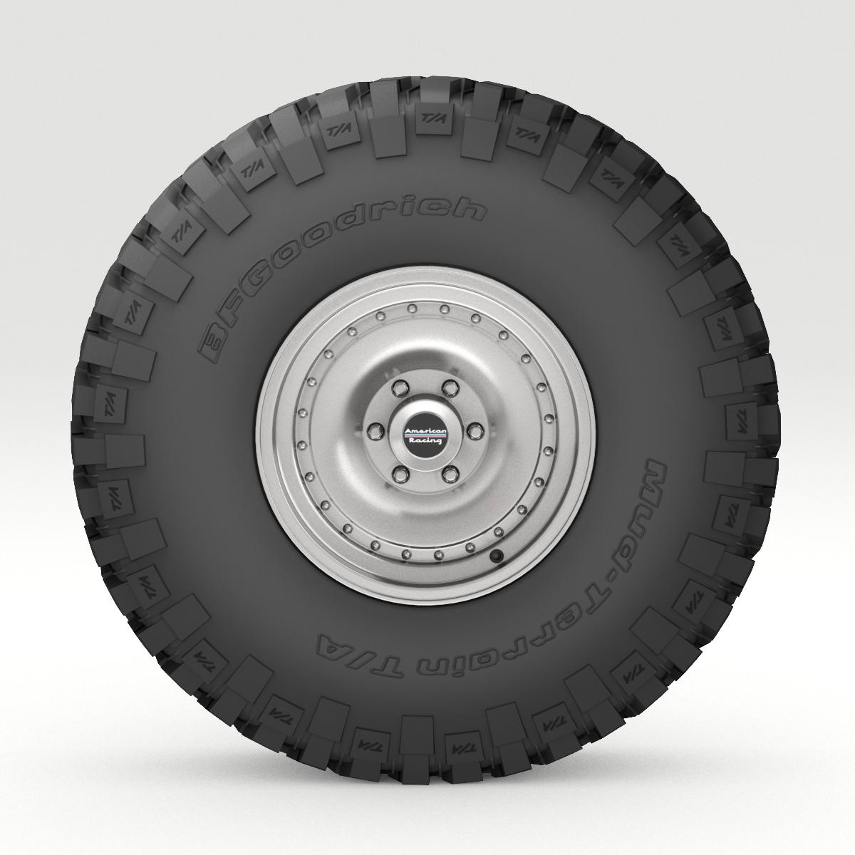 off road wheel and tire 6 3d model 3ds max fbx obj 273552