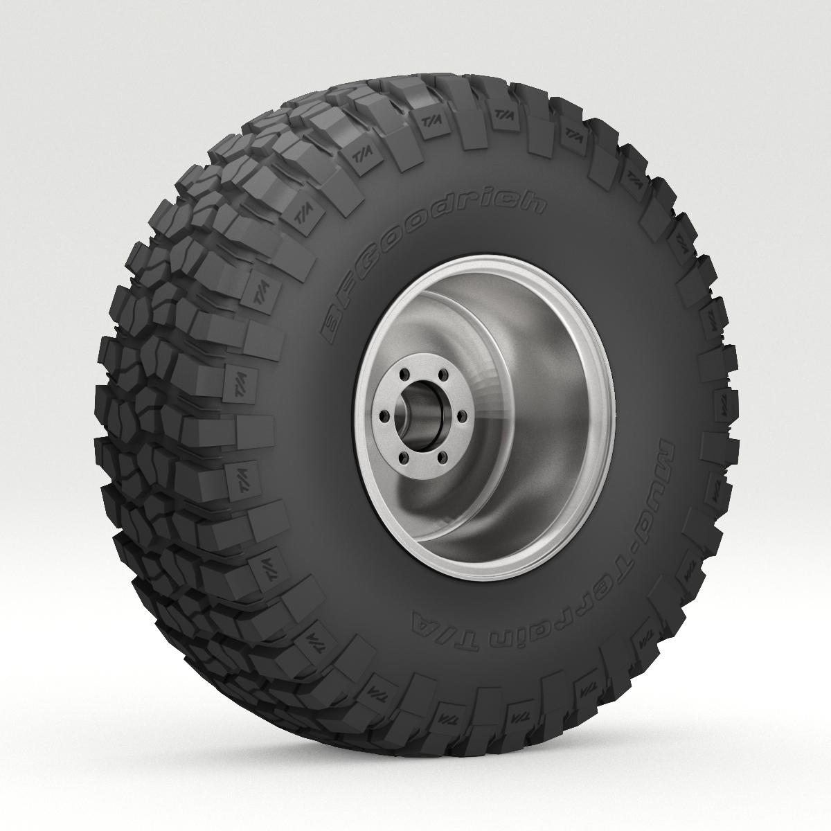 off road wheel and tire 6 3d model 3ds max fbx obj 273553