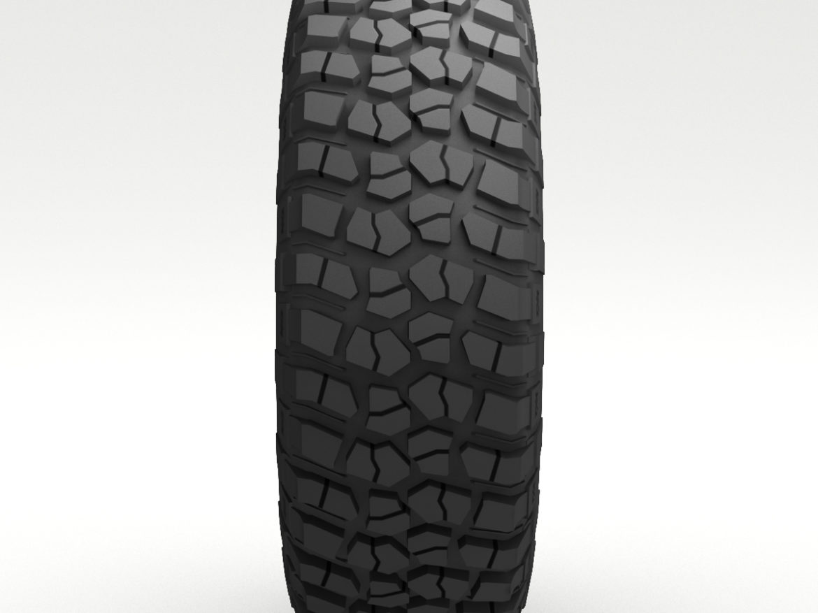 Off Road wheel and tire 6 3d model 0