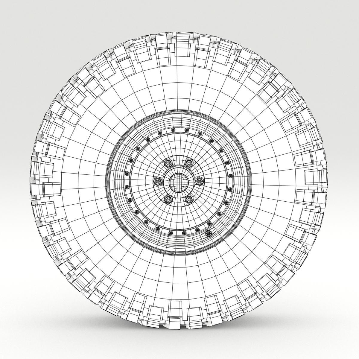 Off Road wheel and tire 6 3d model 3ds max fbx obj 273558