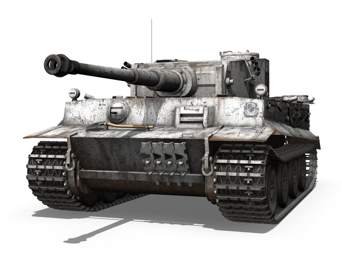 Panzer VI - Tiger - 427 - Early Production 3d model high poly virtual reality 3ds c4d lwo lws lw obj