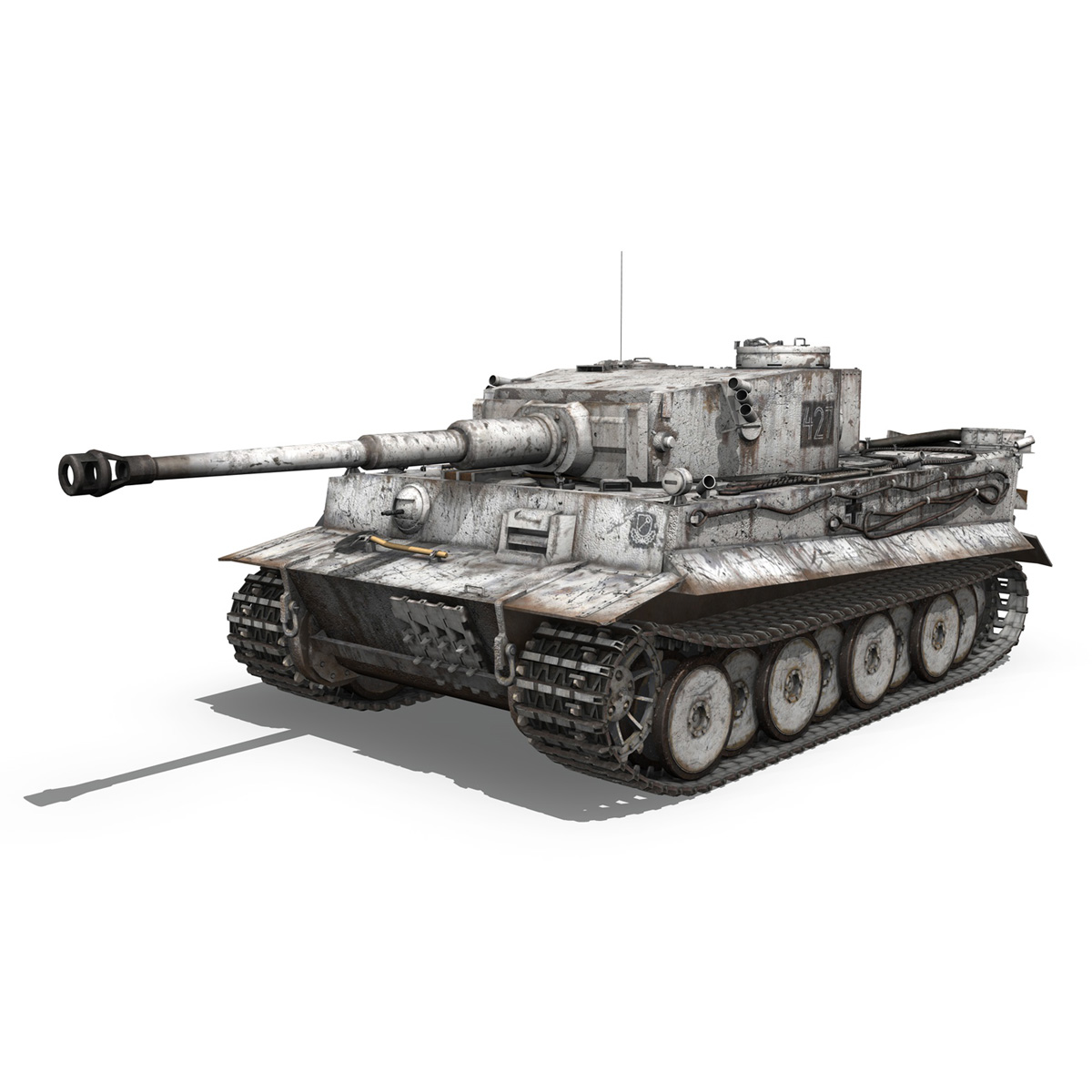 Panzer VI - Tiger - 427 - Early Production 3d model 3ds c4d lwo lws lw obj 273737