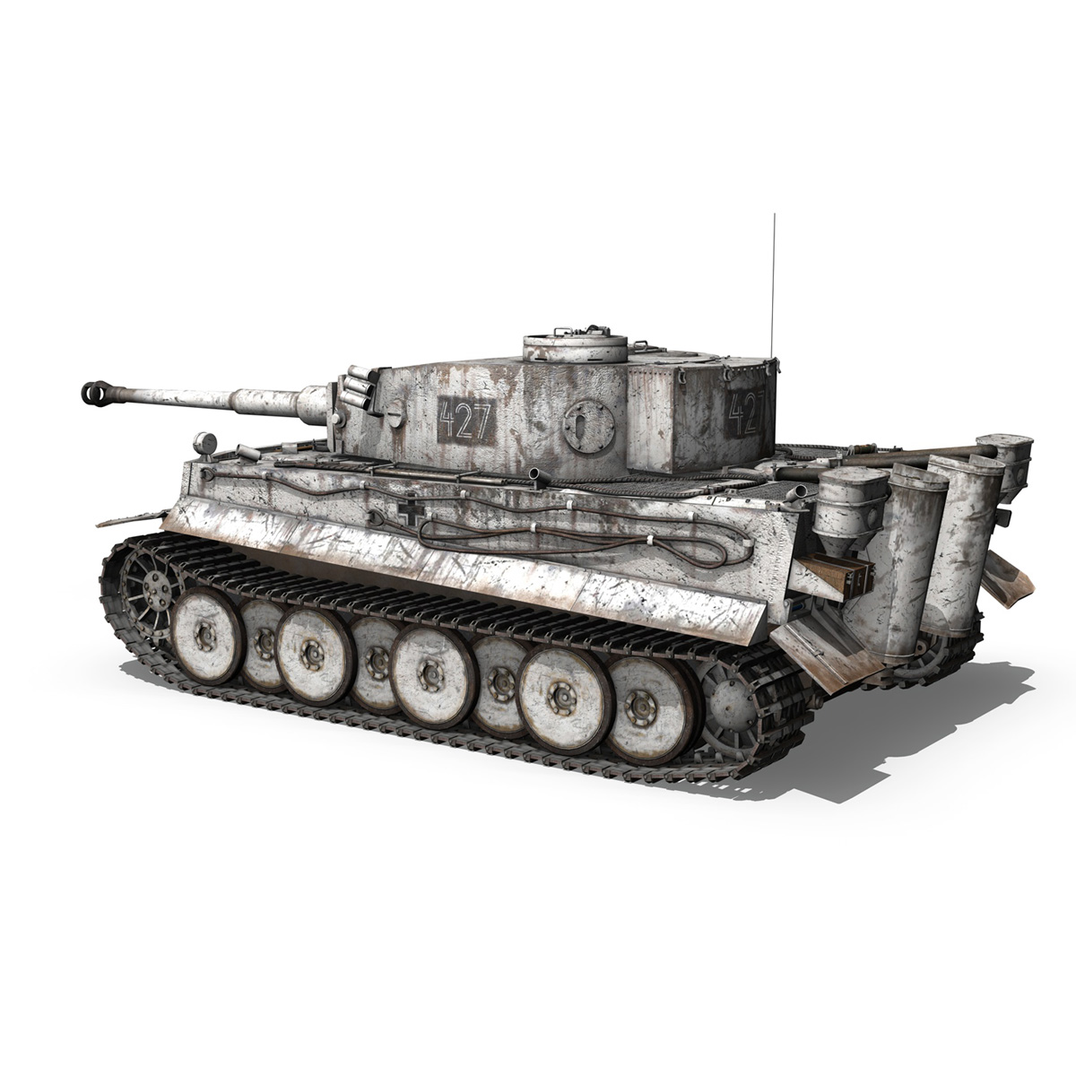 Panzer VI - Tiger - 427 - Early Production 3d model 3ds c4d lwo lws lw obj 273738