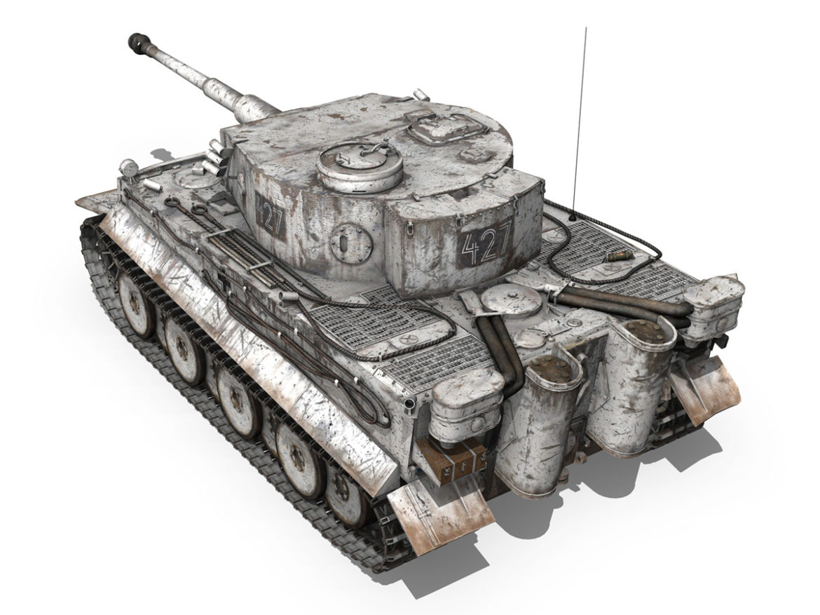 Panzer VI - Tiger - 427 - Early Production 3d model 0