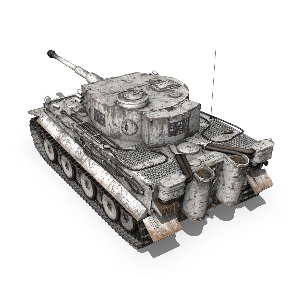 Panzer VI - Tiger - 427 - Early Production 3d model 3ds c4d lwo lws lw obj 273739