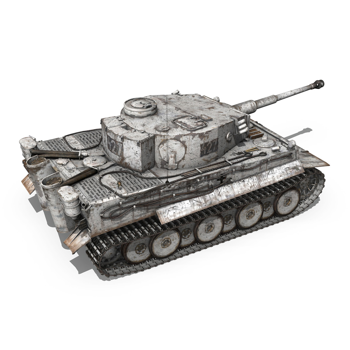 Panzer VI - Tiger - 427 - Early Production 3d model 3ds c4d lwo lws lw obj 273741