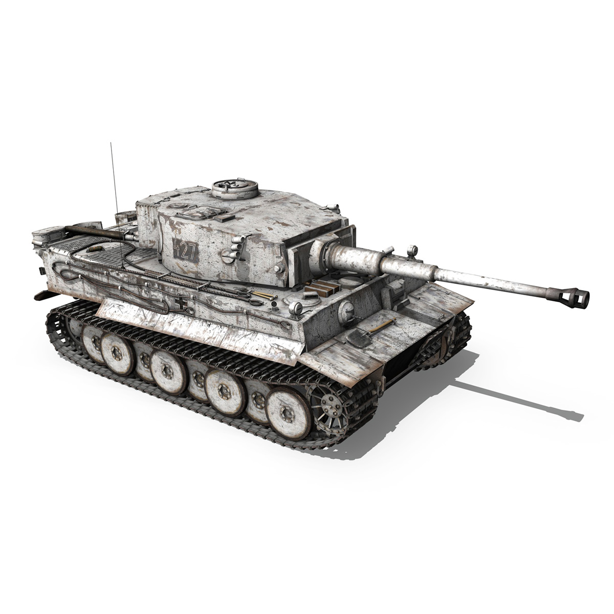 Panzer VI - Tiger - 427 - Early Production 3d model 3ds c4d lwo lws lw obj 273742