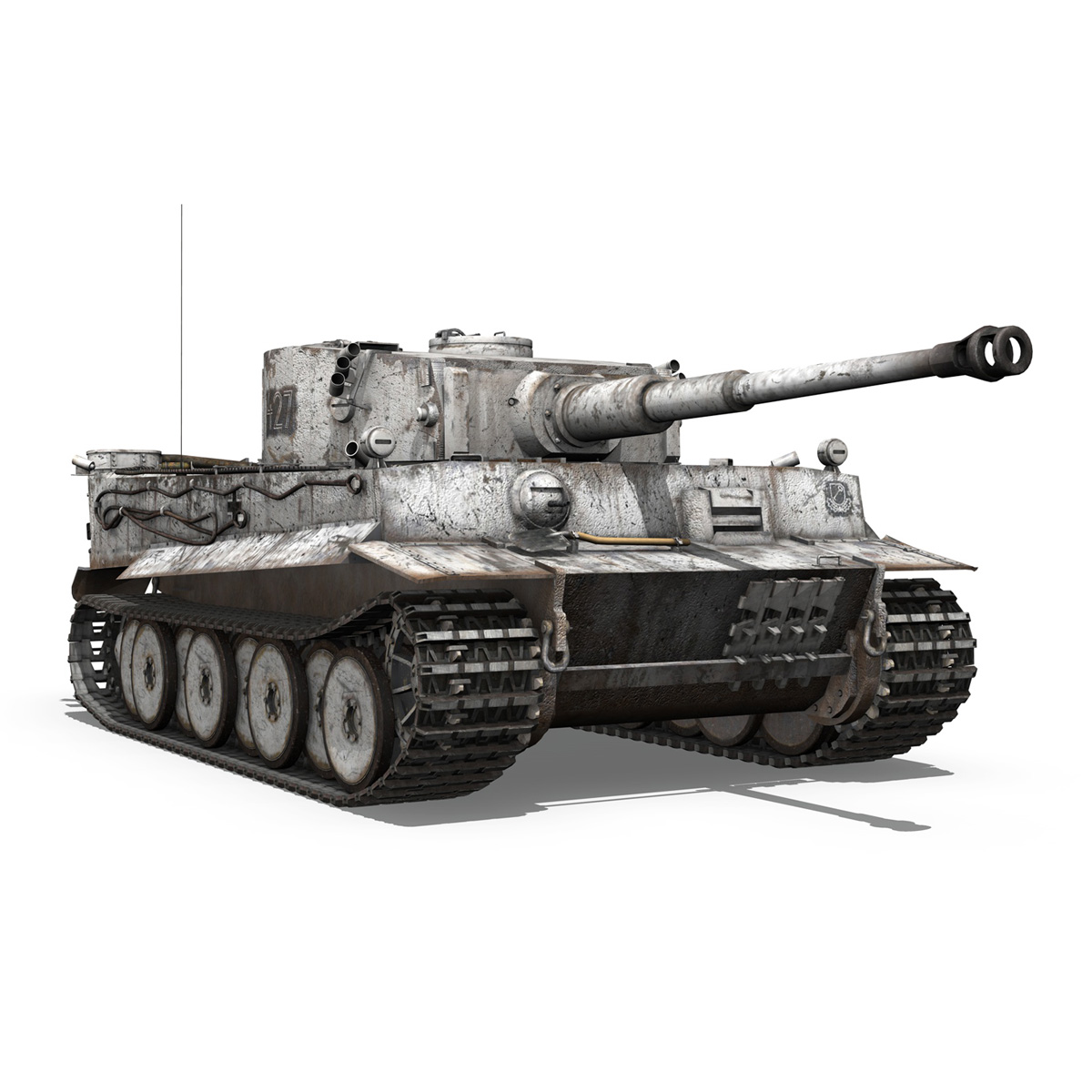 Panzer VI - Tiger - 427 - Early Production 3d model 3ds c4d lwo lws lw obj 273743