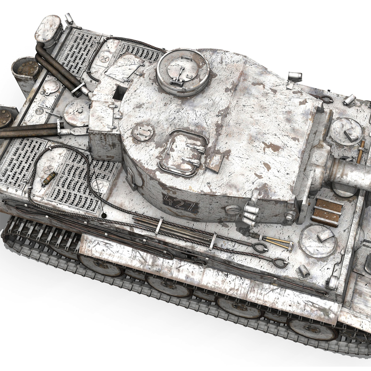 Panzer VI - Tiger - 427 - Early Production 3d model 3ds c4d lwo lws lw obj 273744