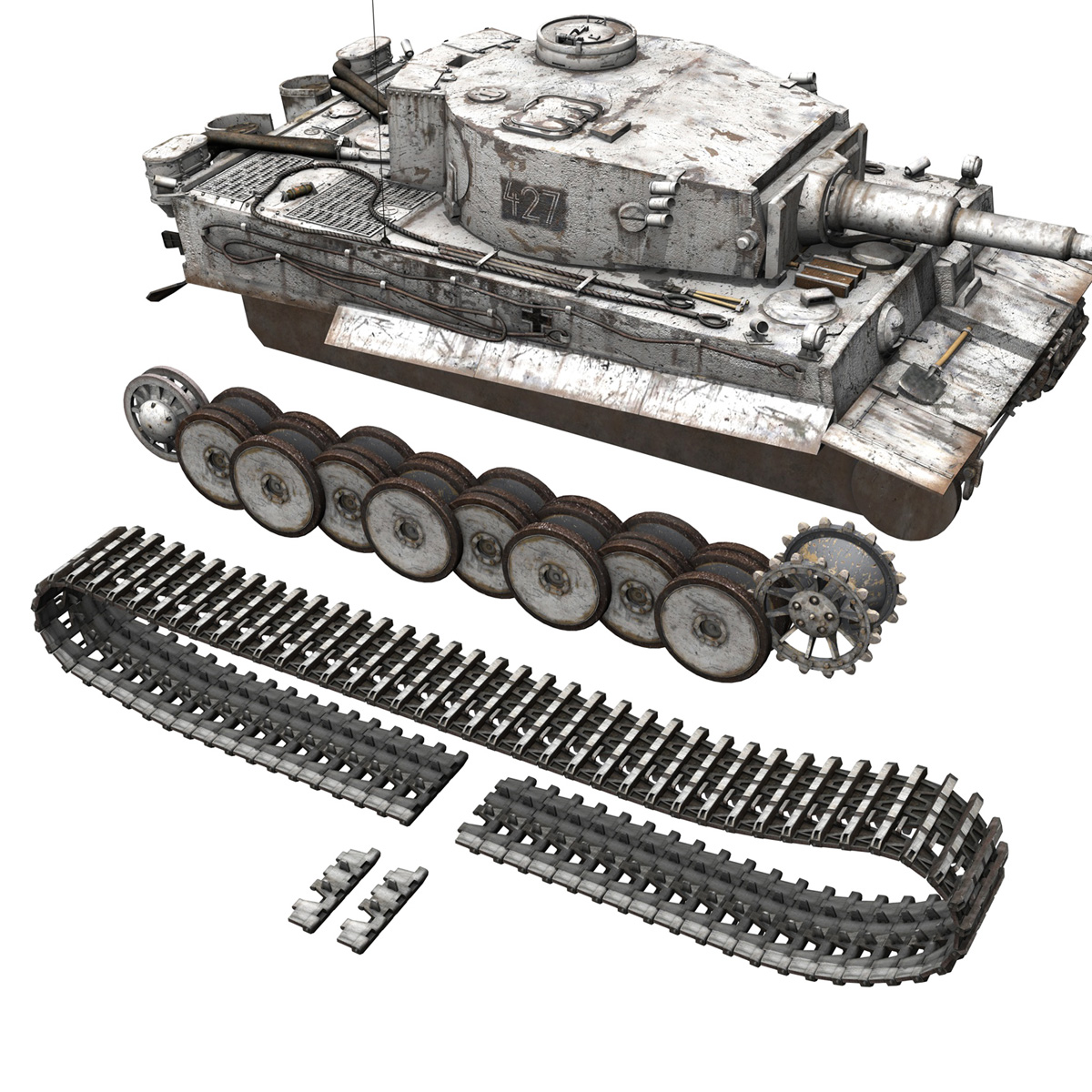 Panzer VI - Tiger - 427 - Early Production 3d model 3ds c4d lwo lws lw obj 273745