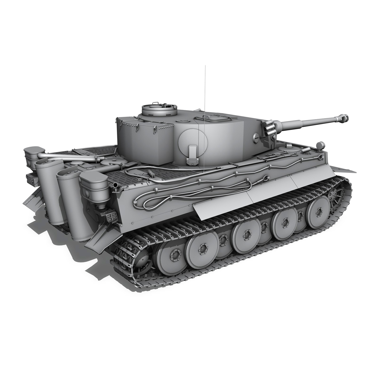 Panzer VI - Tiger - 427 - Early Production 3d model 3ds c4d lwo lws lw obj 273746