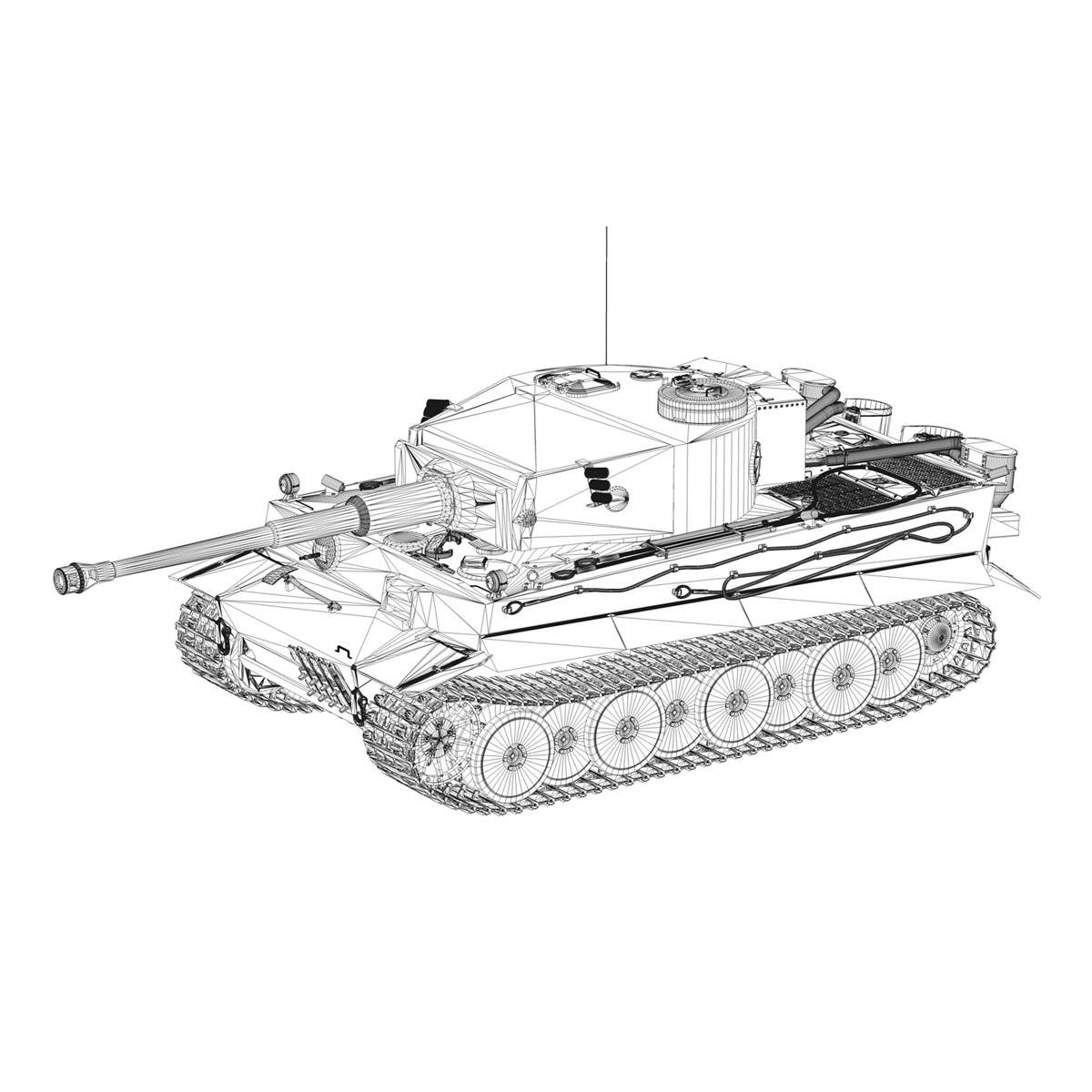 Panzer VI - Tiger - 427 - Early Production 3d model 3ds c4d lwo lws lw obj 273747