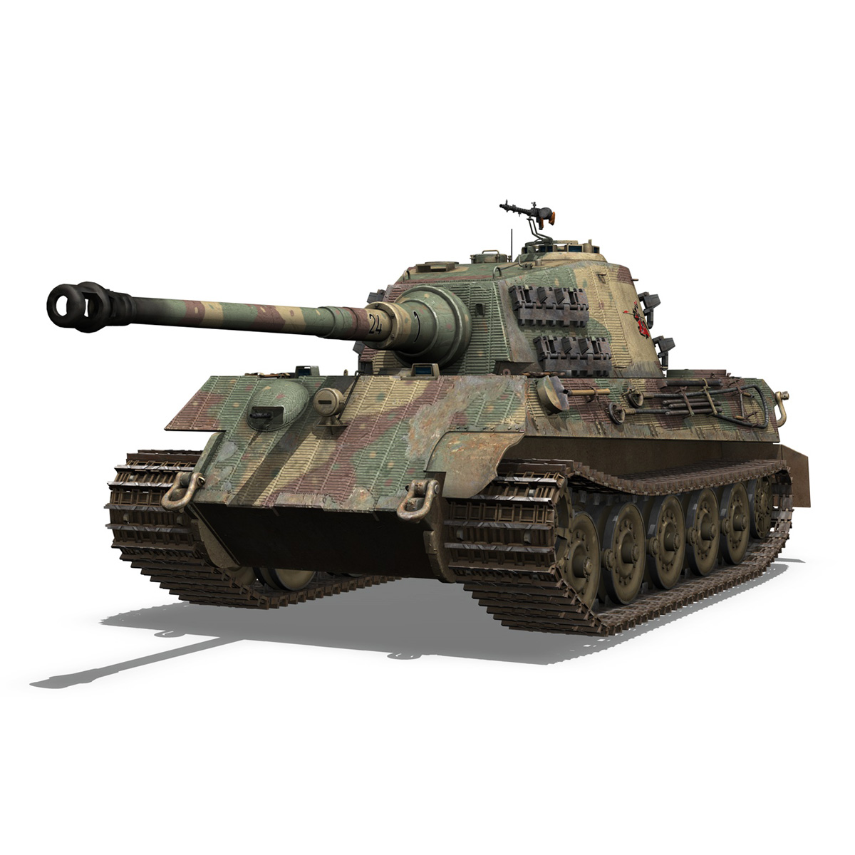 Panzerkampfwagen VI - Ausf B - Tiger II - 124 3d model 3ds c4d lwo lws lw obj 273755