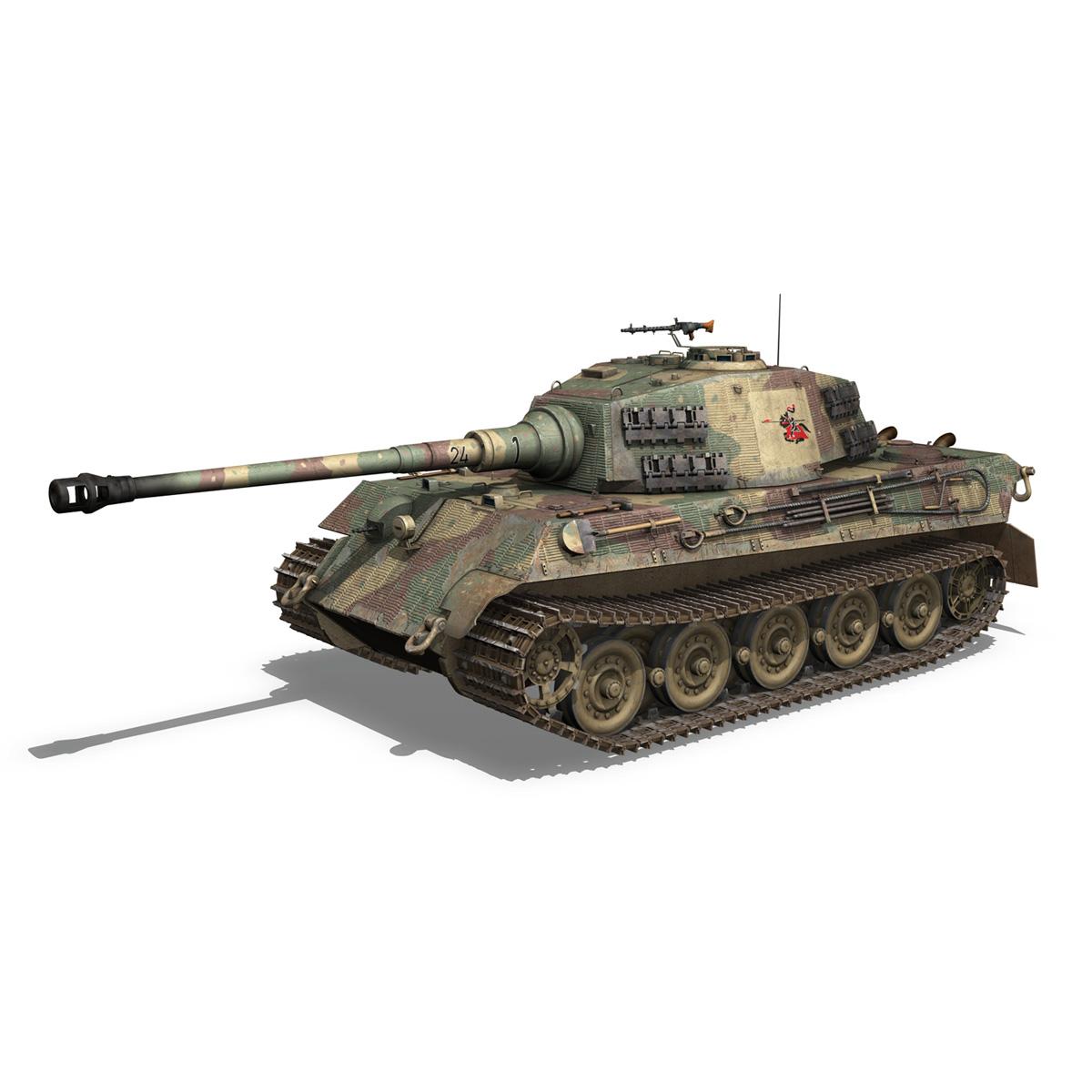 Panzerkampfwagen VI - Ausf B - Tiger II - 124 3d model 3ds c4d lwo lws lw obj 273756